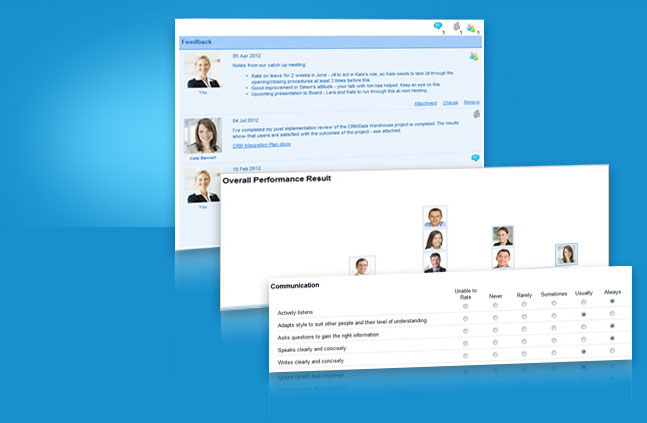Samples from Cognology's performance management system