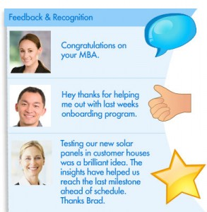 Feedback and Recognition screenshot