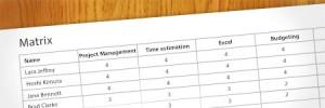 Competency assessment matrix