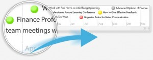 Learning management system timeline indicator