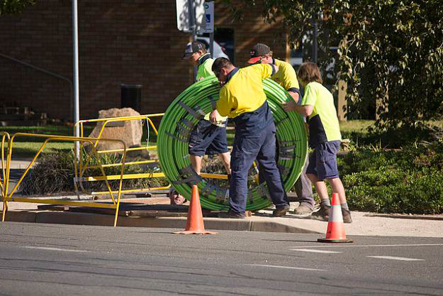 Laying cables for the NBN