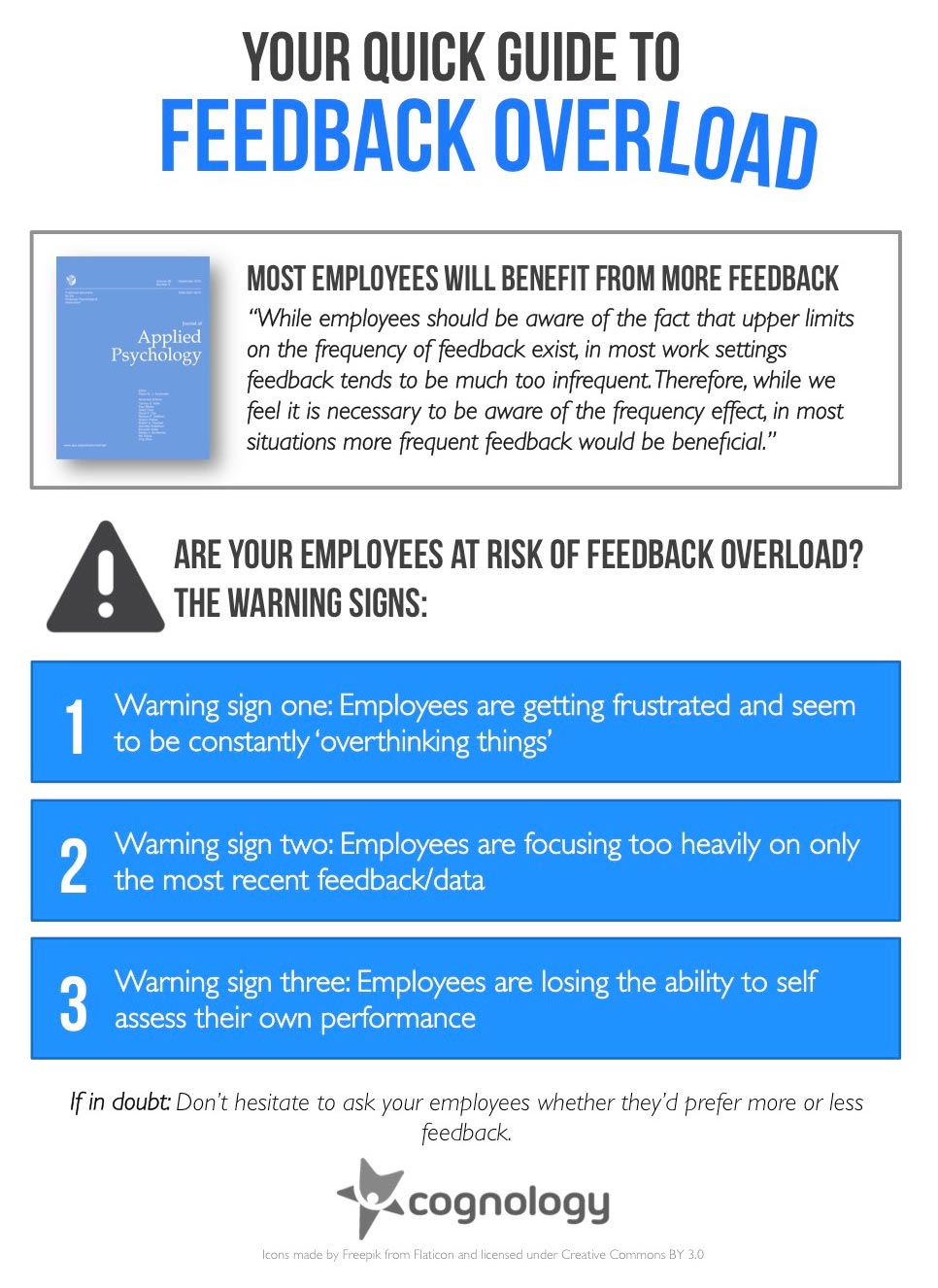 Most employees will benefit from more feedback