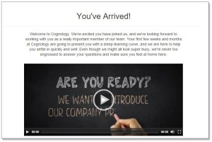 Onboarding at Cognology