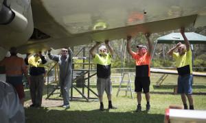 Queensland Air Museum volunteer worker