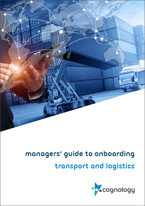Managers Guide to Onboarding - Transport and Logistics cover