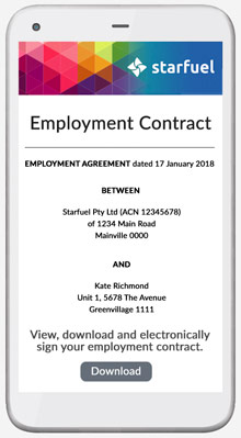 Simple contract management