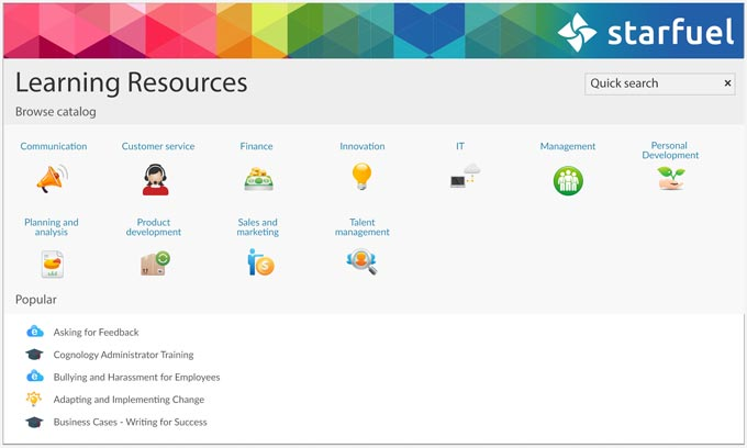Learning Resources screenshot