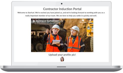 Online Contractor Induction software